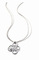 multi circle pendant necklace